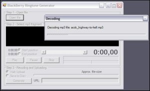BlackBerry Ringtone Generator - Opening