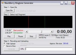 BlackBerry Ringtone Generator - Recoding