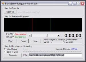 BlackBerry Ringtone Generator - Uploaded