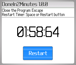 DoneIn2Minutes - Designed for BlackBerry Wireless Handheld