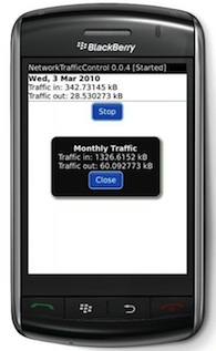 Network Traffic Control for BlackBerry