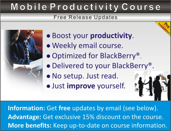 Mobile Productivity Course for BlackBerry Professionals