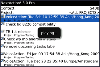 NextAction! for BlackBerry