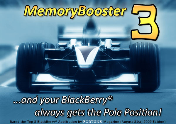 MemoryBooster for BlackBerry - Speeds up the BlackBerry by recovering wasted memory!