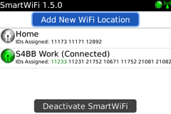SmartWiFi for BlackBerry