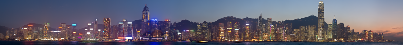 Hong Kong Skyline by D. Iliff
